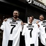 Iszonyú mennyiségű ronaldós mezt adott el máris a Juventus