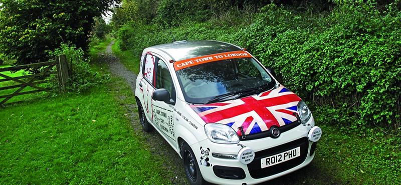 Fokvárosból Londonba non-stop egy Fiat Pandával