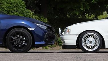 1987 kontra 2020: Ford Escort RS Turbo az új Honda Civic Sport ellen