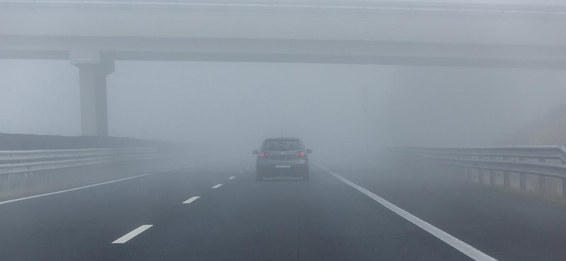 Ködös, borongós idő várható, ónos szitálás ie lehet