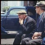 Lebilincselő fotók az 1940-es évekbeli New Yorkról