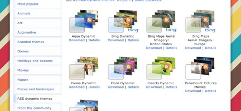 Dinamikus - internetről frissülő - témák letöltése a Windowshoz