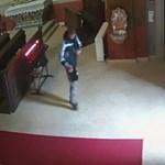 Perselyt lopott a templomból, de hiába meresztgette a szemét, nem vette észre a biztonsági kamerát