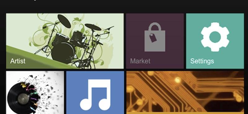 MP3-letöltő és -lejátszó Windows 8 stílusban, ingyen