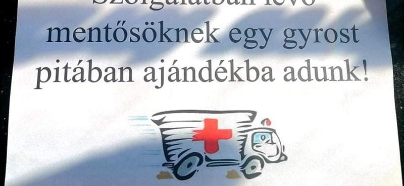 Felháborodott az ebédelő mentősök feljelentésén, ingyengíroszt ad minden mentősnek