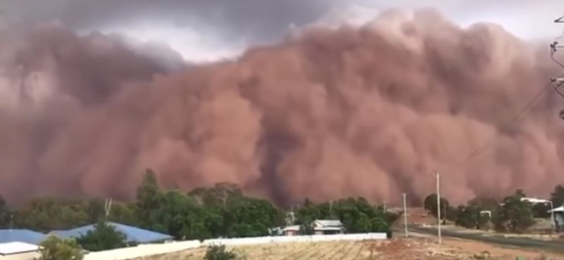 Már a homokvihar is gondot okoz Ausztráliában