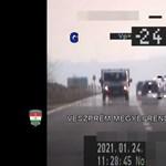 Videó: a rendőrök 245-ös tempónál meszeltek le egy sofőrt a 710-es főúton
