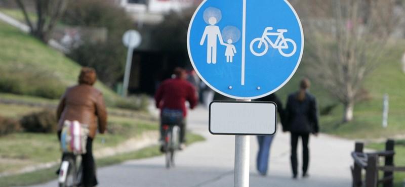 Kétszázmilliós kerékpárút épült Szolnoknál