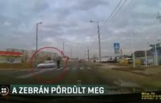 Videó: Zebrán pördült meg egy fékező autós Kazincbarcikán