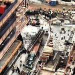 Fotó: 40 emelet magasból esett le egy gerenda a WTC-nél