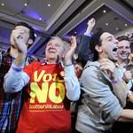 Hivatalos: A függetlenség ellen szavazott a skótok többsége
