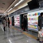 Virtuális szupermarket a metróban