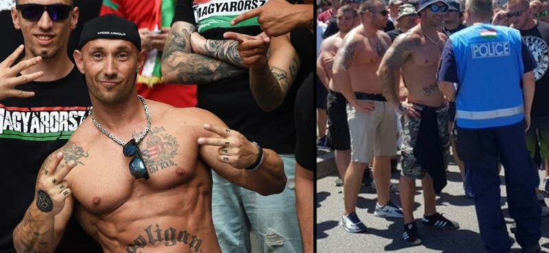 Fotó: Lyonban a magyar rendőrrel beszélgetett a nácinak beállított szurkoló