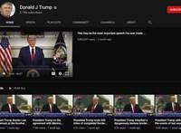 Fenyegetést lát a YouTube Donald Trumpban, meghosszabbították a tiltását