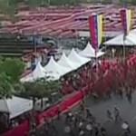 Pánik tört ki a katonák között, amikor Maduro beszéde közben felrobbant valami