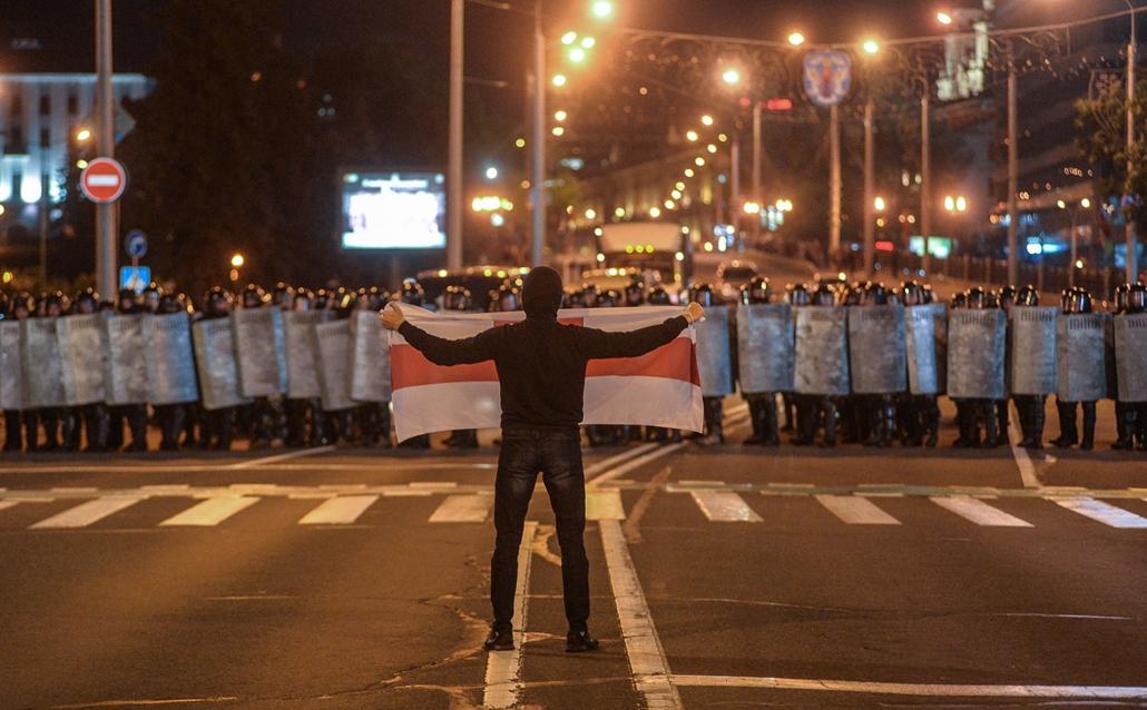 mti.20.08.09. Fehéroroszország ellenzéki tüntetés a választások után