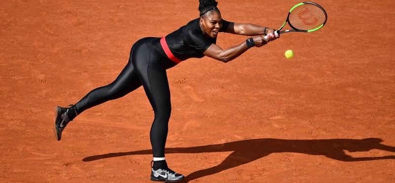 Jövőre már nem játszhat fekete testre feszülős ruhájában Serena Williams