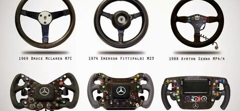 Videó: így lett a fakormányból kistévé az F1 autóiban