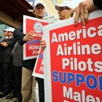 Malév pilóták demonstrációja - Képekkel