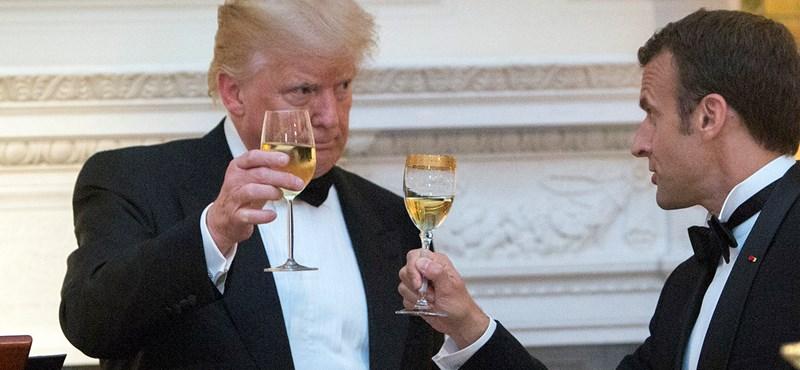 Hiába koccintott Macronnal, most a francia boroknak ment neki Trump
