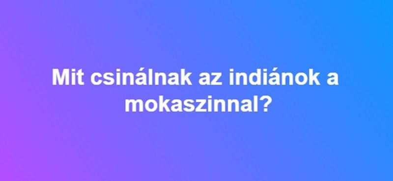 Mit csinálnak az indiánok a mokaszinnal?