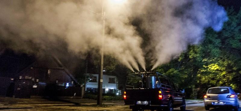 Fotók: így pusztítják el a budapesti szúnyogokat