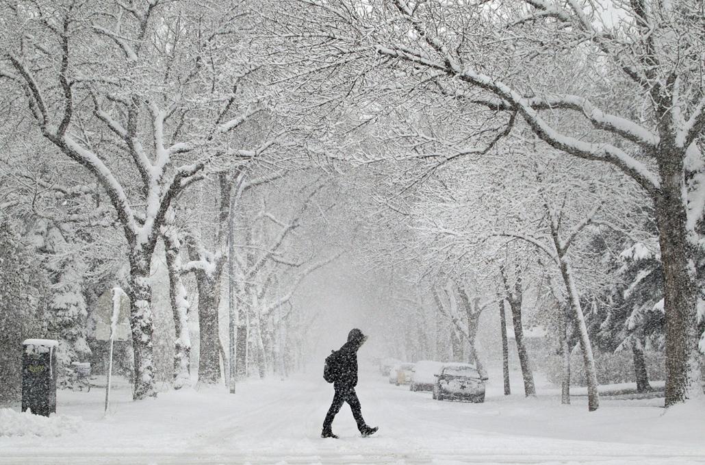 AP. Ahol már esik: Edmonton, Kanada - hét képei nagyítás
