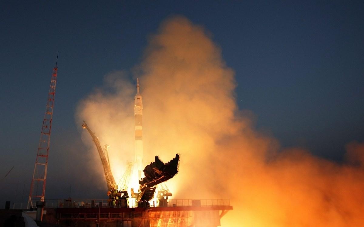 Fotó: A Szojuz űrhajó felbocsátása