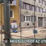 Megsüllyedt egy I. kerületi utca egy építkezés miatt