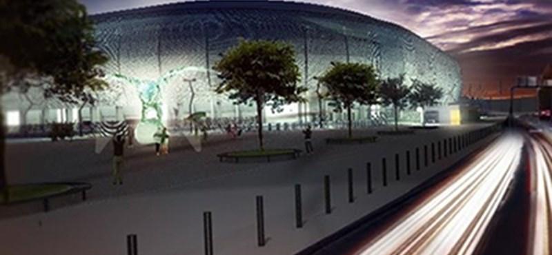 Látványterv: Gigantikus szobrot építenek a Fradi-stadion mellé
