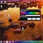 Szivárványszínű Windows Tálca, egy mozdulattal