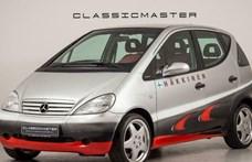 206 kilométerrel árulnak egy 21 éves különleges Mercedes A-osztályt
