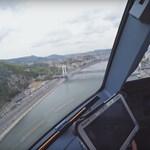Ezt látták a pilóták, amikor a Wizz Air repülője alacsonyan szállt Budapesten – videó