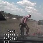 Videó: Üldözés közben gyulladt ki a rendőr autója