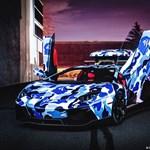 Egy Lamborghini Aventador kékben terepszínű?