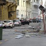 Csúnyán megrongált a szél egy állványzatot, lezárták az Akadémia utcát - fotók