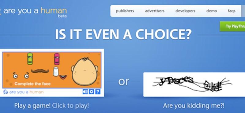 CAPTCHA helyett játék: próbálja ki!