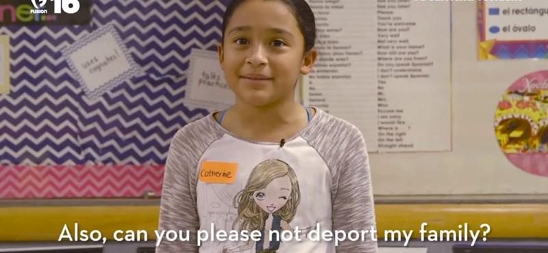 """""""Kérem, ne utasítsa ki a családomat!"""" Üzennek a diákok az USA következő elnökének"""