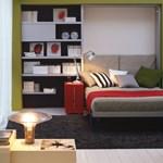 Apró lakásokba: falba süllyeszthető franciaágy