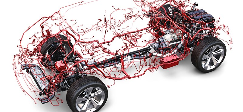 Nézze meg egy autó idegrendszerét. Elég látványos