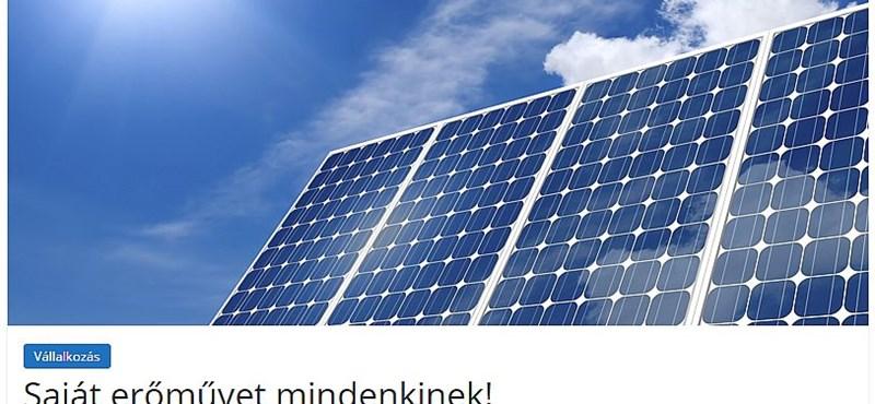 Az megvan, hogy már az MVM is a napelemrendszereket ajánlja?