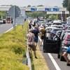 Képeken a Horvátország felé álló kocsisor