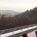 Videó: Így rúgta be az ajtót a tél ma reggel Óbudán