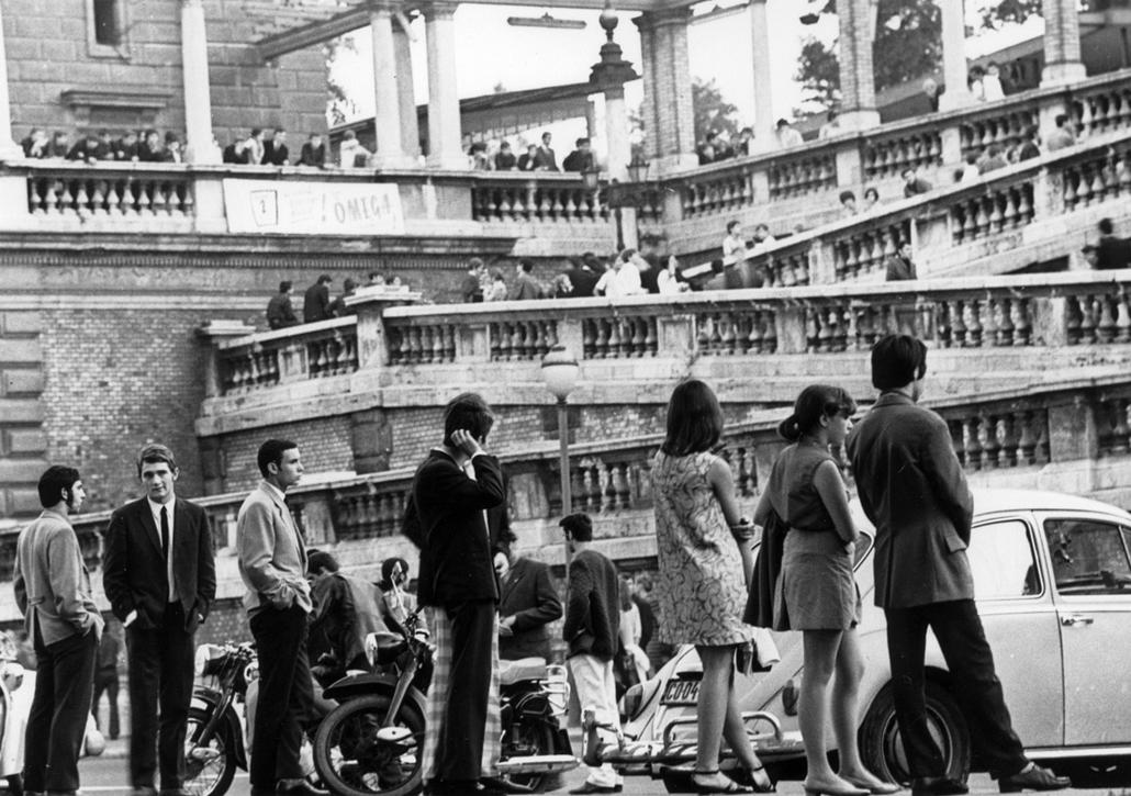 fortepan_! - 1967. körül - Budai Ifjúsági Park, Várkert bazár