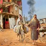 Válasszon karácsonyi képeslapot a Közel-Keletről: rakétával és Jézuskával