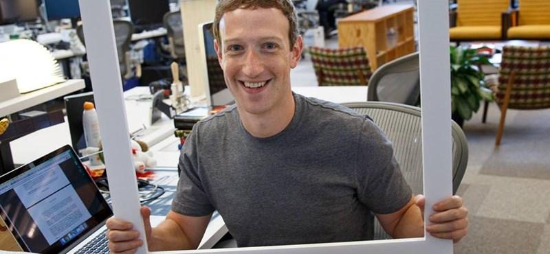 Ötletes, pózolós képet posztolt Zuckerberg