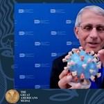 Múzeumi tárgy lett Anthony Fauci híressé vált koronavírus-bábujából