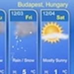 Több napra előre: időjárás-jelentés a böngészőben