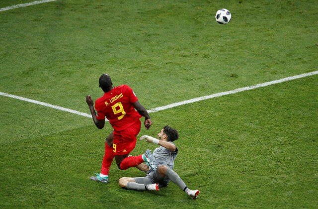 afp.18.06.18. - Belgium–Panama világbajnoki csoportmérkőzés. Lukaku második gólja