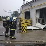 Benzingőz robbant egy budapesti kamionmosóban - fotók